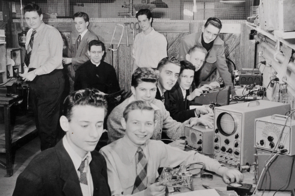 Br. Donard with early Radio Club
