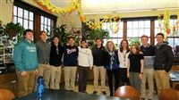 Martha Beirut '11 (5th from right), Mrs. Johnson (4th from right), and her Advanced Forest Ecology Research class.