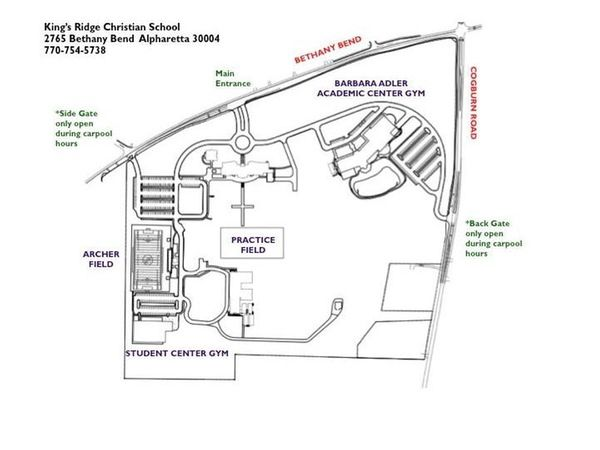 Athletic Facilities Map