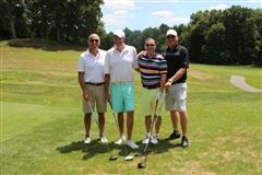 (From left to right) William Raccio '76, Neil Rousso '76, Michael Belfonti '76, Alex Bell '76
