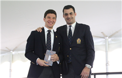 Patrick Brown '17 (Left) during last year's Academic Awards Ceremony.