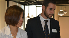 Spanish Teacher Jesús Hernández Cobo at this year's Registration Day.