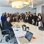 Kew-Forest students meet with representatives from the Permanent Mission of the Kingdom of the Netherlands to the UN on December 15, 2016 in Manhattan.