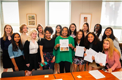 Annie Wright Schools' Model UN collaborated with Tacoma mayor Victoria Woodards to change Columbus Day to Indigenous Peoples' Day.