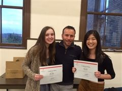 Jessa, French teacher Olivier Soustelle and Soojin