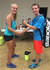 Rising Grade 9 student Taylor Anderson and Middle School alumnus Matthew Sullivan, who are both playing in the PNW Open this week, won USTA youth tournaments at Bremerton yesterday. Taylor won the girls' 18s singles and Matthew won the boys' 16s singles. Go Gators!