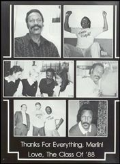 Merlin is honored in the 1988 yearbook.