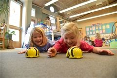 "Pre-K ""BeeBots"" during the Hour of Code"