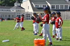 Young players practiced Red Sox-style.