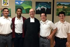 Bro. Francis Eells, FSC, visited St. John's to discuss vocations with the young men of the senior class.