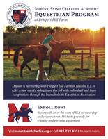 Mount Saint Charles Academy Equestrian Program at Prospect Hill Farm
