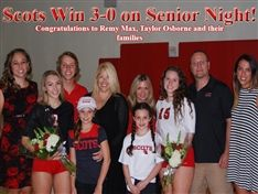 Scots Win in Straight Sets on Senior Night