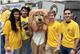 (L to R) Natalie Cohn '17, Cole Hutton'18, President Jennifer Clogg (wearing Lion's costume)'17, Ben Waksberg '18 and Gordon Reeves '18.