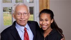 Ella Douglass '20 and her grandfather, Lewis Douglass, will see one of their ancestor's skirts on display in the new National Museum of African American History and Culture.