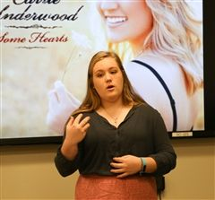 MC Shea '19 gave an 18-minute, memorized presentation for The Hun School's Public Speaking and Debate 2 class last week.