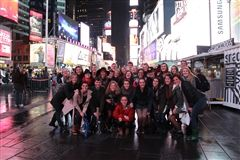 CPA visual arts and theatre students visit Times Square
