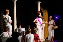For the past several weeks, seventh grade students have been studying the Golden Age of Greece. The unit came to an end on Greek Day.