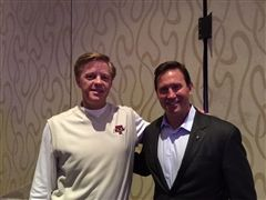 A.D. Mike Ellson with best-selling author Jon Gordon at the NIAAA national annual conference in Orlando, Florida
