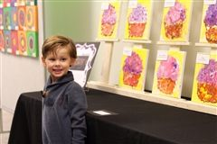 The three-day, gallery-style display featured the preschoolers' art and refreshments for family and friends.