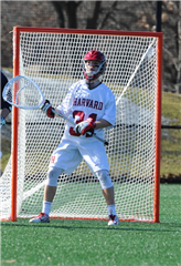 Rober Shaw '14 holds his own in net, as his Crimson beat Nova's Wildcats