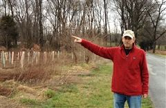 Steve Ward on the spot where Gould was killed.