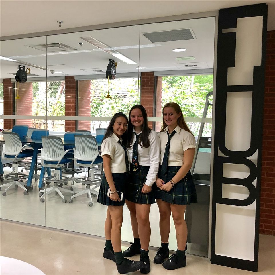 Zoe, Charlotte and Logan exploring the new iHUB.