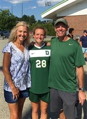 Alyssa and her parents, who were also Dartmouth grads