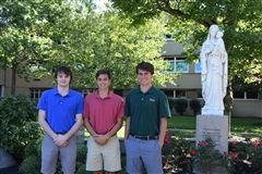 Photographed from l to r: Mason Davy '17, Riley Jones '17 and Augustin Haffner '17