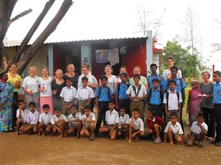 Millbrook students and faculty at City of Child in Pune, India.