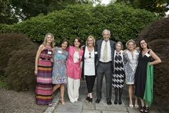 Charlie Lord, former Head of School, with alumnae in 2014