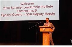 Headmaster Kevin McHenry welcomes conference delegates