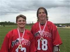 Caleb Creasor and Jason Knox with their Team Ontario gold medals