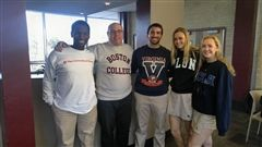 Dr. Curry and Students Celebrate #CSW17 with College Sweatshirt Day!