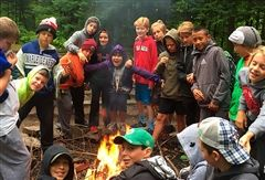 Middle School Crescent Students at Camp Arowhon