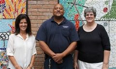 20 and 30 Years of Service - Left to right: Michele Dennis (20 years), Carnell Benton (20 years), Virginia Baird (30 years)