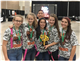 From left, TMI Robotics Team members Chloe Harthan, Annie Mosis,  Newton Tran, Priscilla Lobo, Isabella Grossman and Mikae Mumme celebrate the regional win that qualified them for international competition.