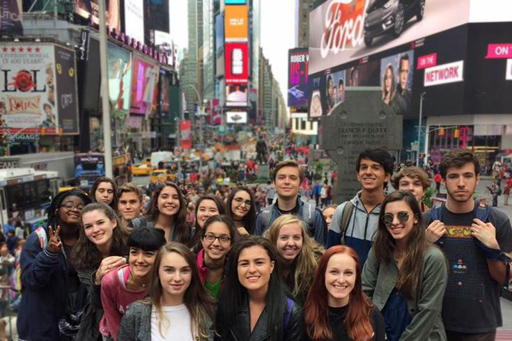 Diploma Program Theater and Music students take an annual trek to NYC to immerse themselves in the performing arts.