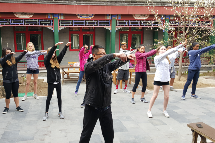 Students find their zen in Beijing.