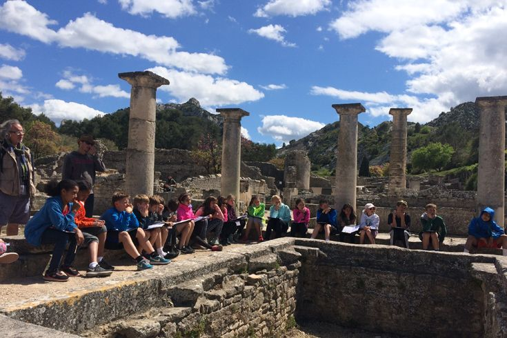 Students explore ancient history in Provence on the annual G5 French Track trip to France.