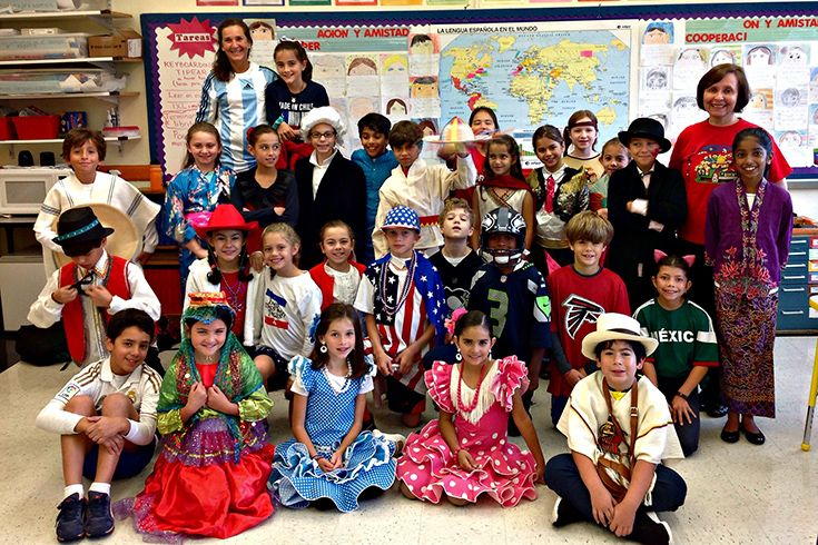 Grade 4 Spanish Class Participate in UN Day