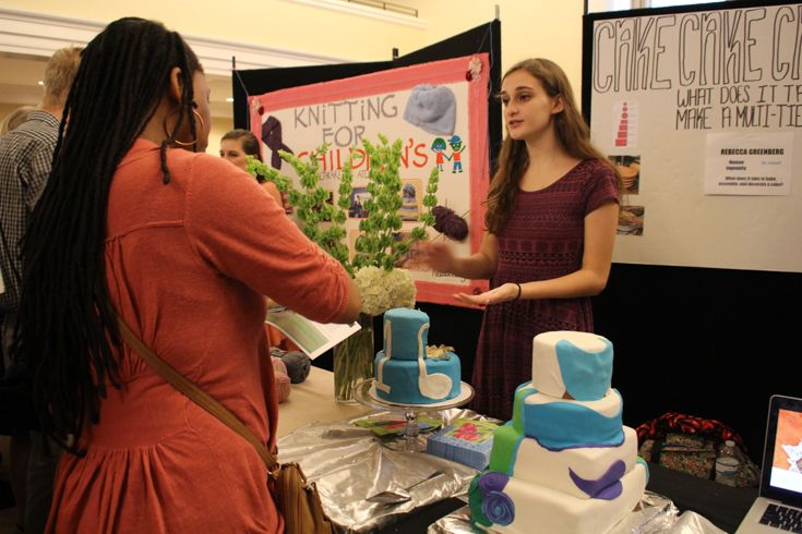 Grade 10 MYP student discusses what it takes to bake a multi-layered cake.