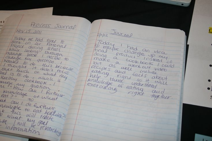 All Grade 10 MYP students write process journals throughout the journey of their year-long personal project.