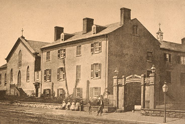 Gonzaga's original building was on the north side of F Street, NW, between 9th and 10th streets.