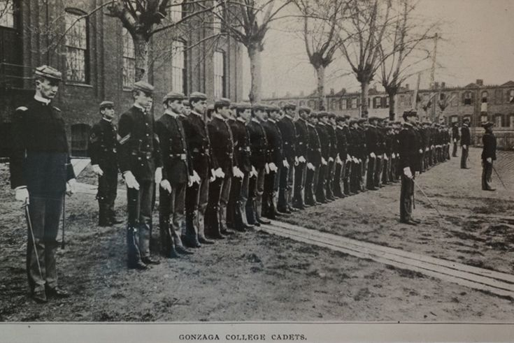 Early in its history, Gonzaga had a Cadet program.