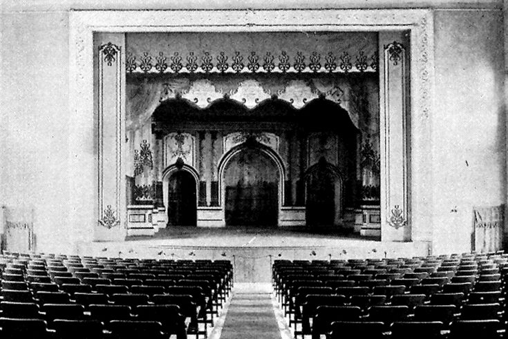 This photo, taken in 1901, shows the interior of what's now Sheehy Theater.