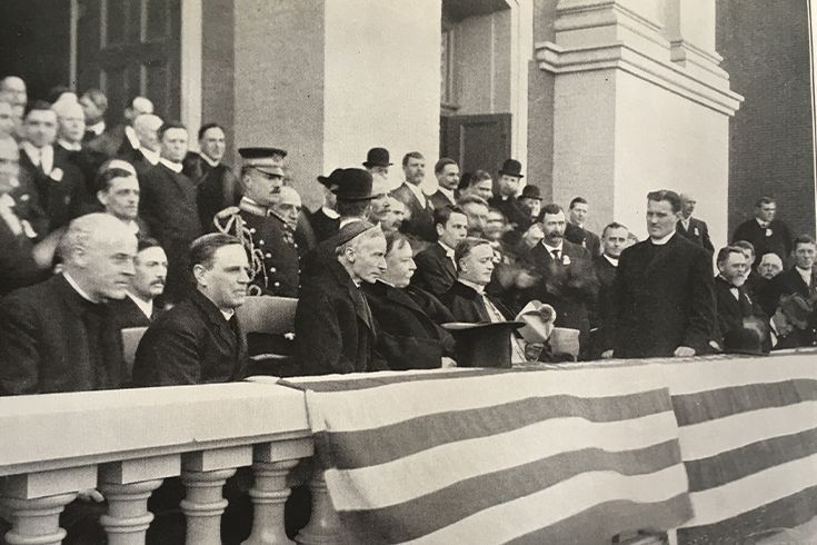 President Taft on the steps of St Al's in 1909.