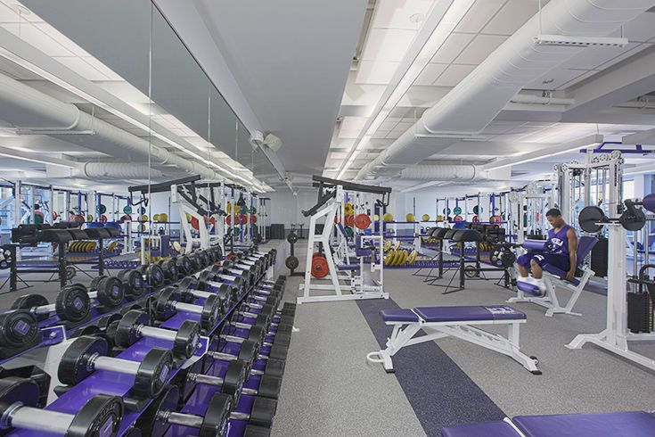 The 2013 expansion of the Carmody Center included adding the Sheridan Strength and Conditioning Center.
