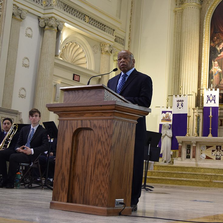 Representative John Lewis spoke at last year's Onyx Black History Month Assembly.