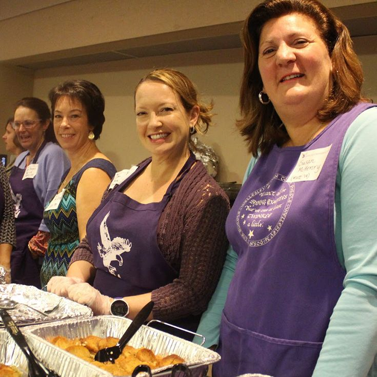 One morning each month, the GMC prepares and serves a delicious home-cooked breakfast for Gonzaga's hardworking faculty and staff.