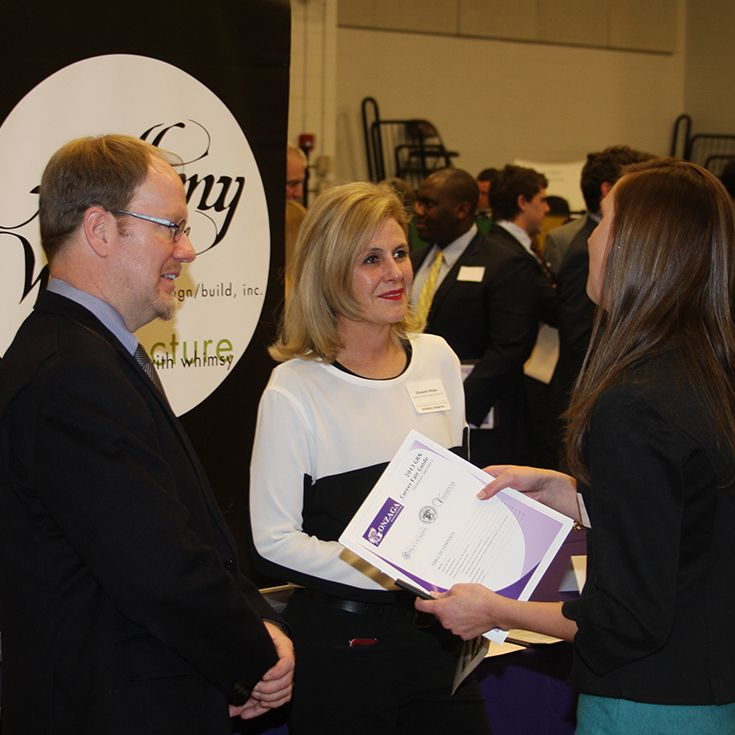 Dozens of area firms are represented at the Career Fair.
